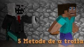 5 Metode de a trolla un noob in Minecraft