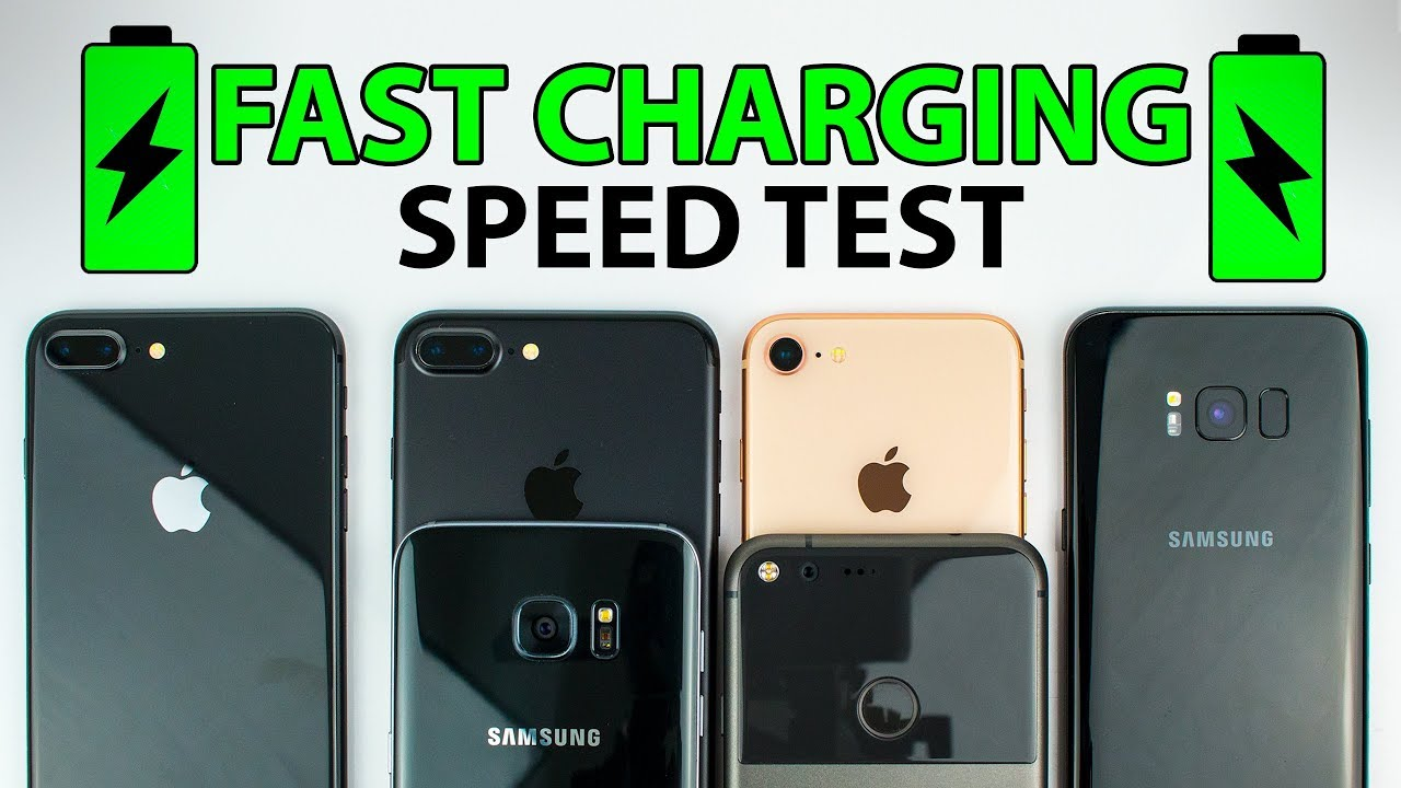 new products 9cdbd e320e iPhone 8 vs S8 vs iPhone 7 vs S7 vs Pixel XL - FAST CHARGING SPEED TEST!