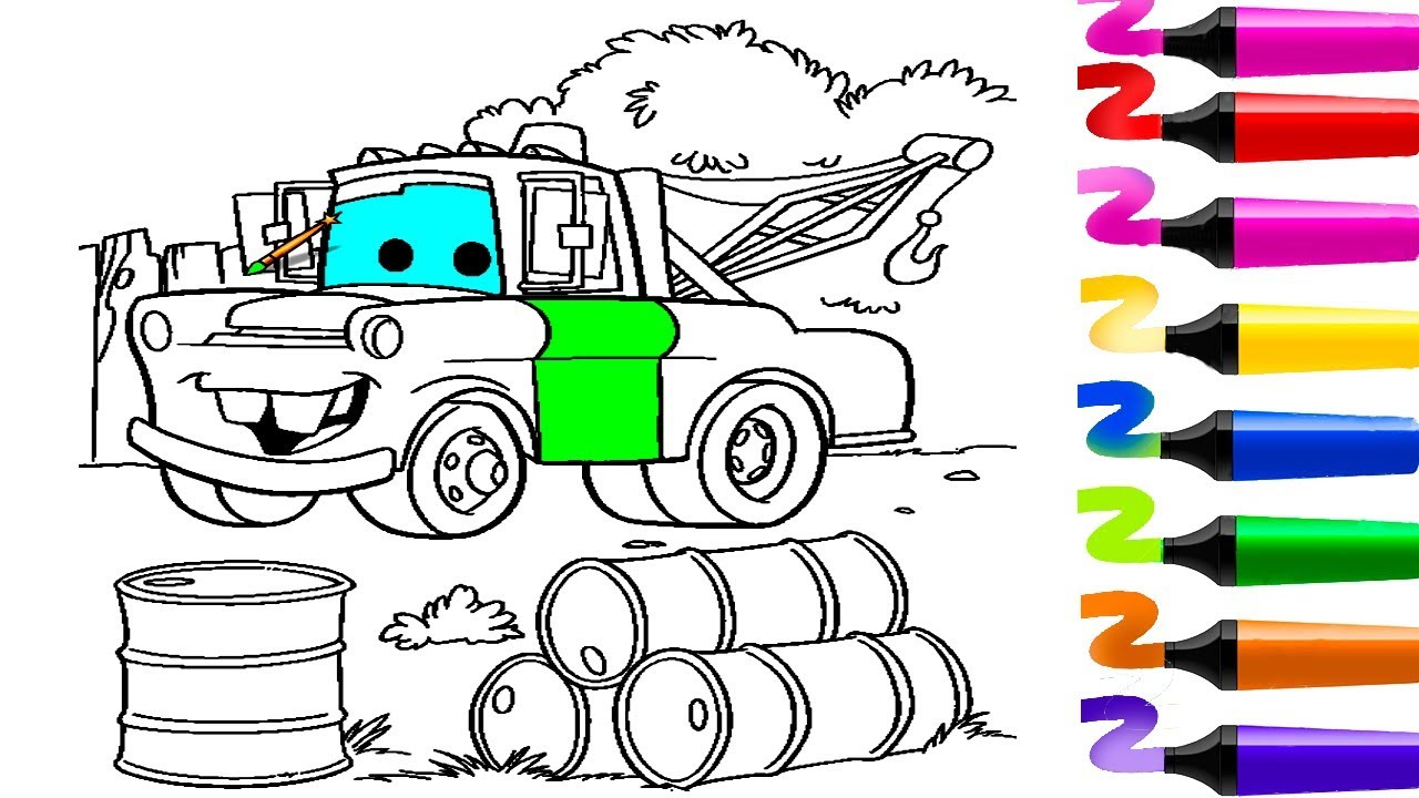 Coloriage voiture! Coloriage Flash McQueen (CARS)! Coloriage magique!  Dessin facile