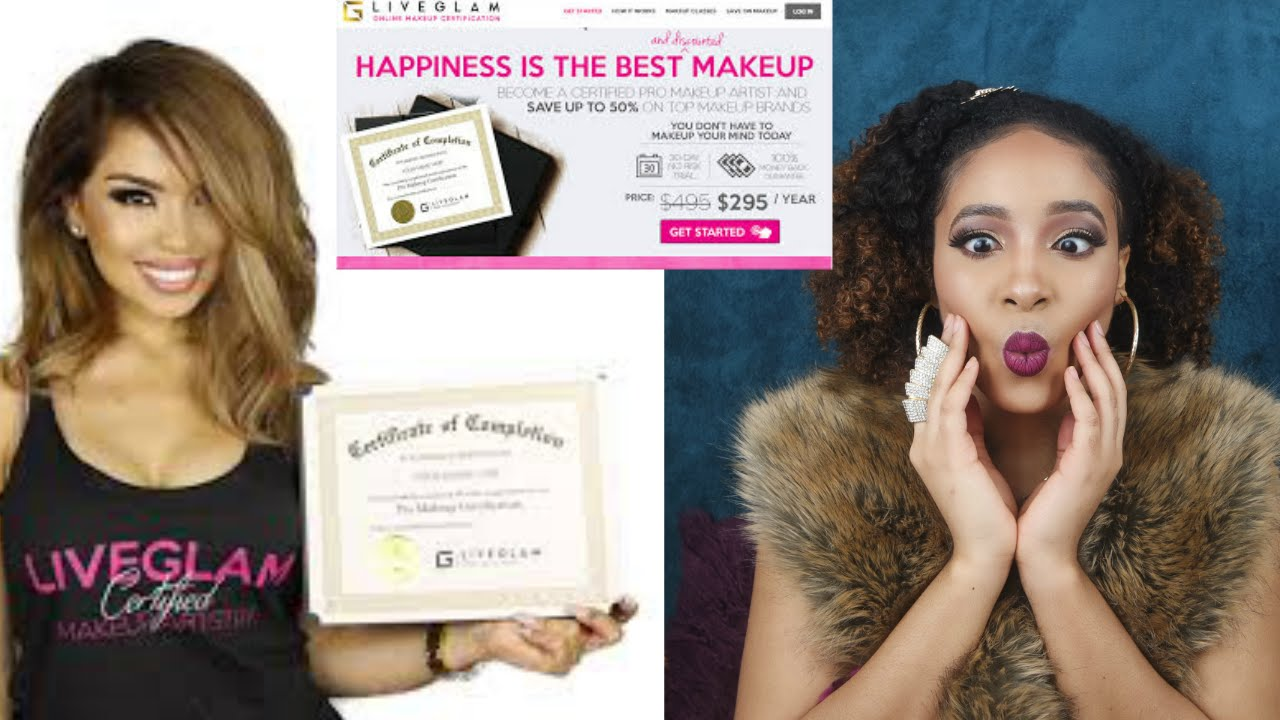 Lets talk makeup certification live glam academy alecxa lets talk makeup certification live glam academy alecxa knowles youtube xflitez Image collections