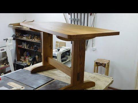 Обеденный стол из дуба своими руками.