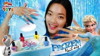 Disney Frozen Nail Art Bersama Kak Alis - Asta And Toys