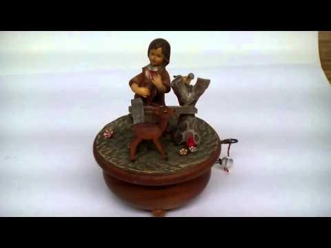 Vintage Anri Music Box with Thorens Mechanism