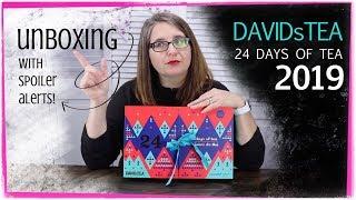 DAVIDsTEA 24 days of tea advent calendar 2019 (unboxing with spoiler alerts)