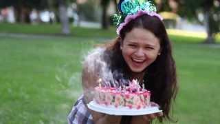 вот как поздравлять подругу с днём рождения!!!!!!!! сумашедший розовый заяц