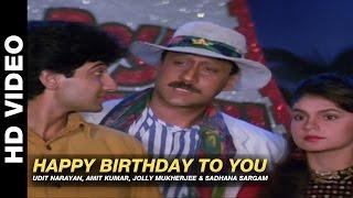 Happy Birthday To You Mr Pedro| Udit Narayan, Amit Kumar, Jolly Mukherjee & Sadhana Sargam