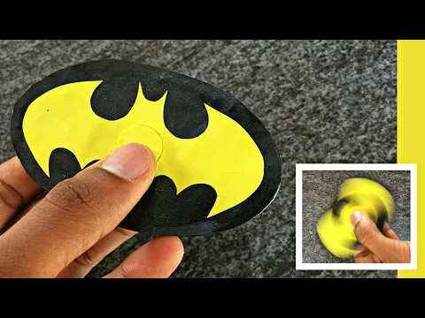How To Make Fidget Spinner Without Bearings At Home || Batman Spinner