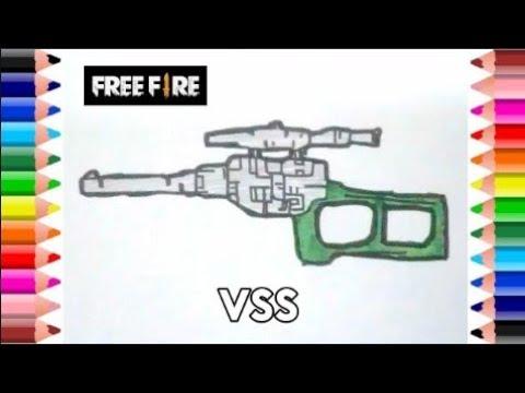 Cara Menggambar Senjata Vss Dari Game Free Fire Youtube