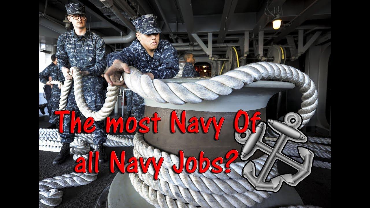 Navy Jobs – BM Boatswain's Mate – Hero Display