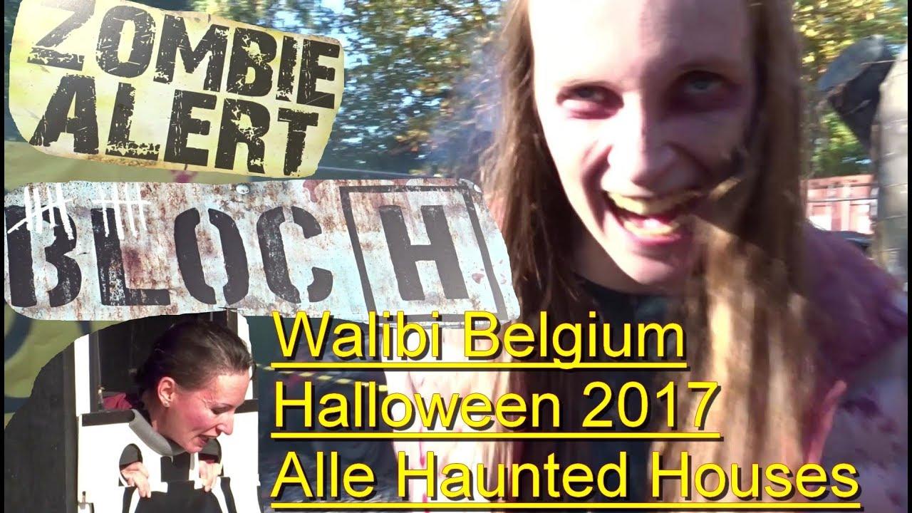Walibi Belgium Halloween 2019.Walibi Belgium Halloween 2017 All Halloween Attraction Onride Pov Bloc H Quarantine Villa 13