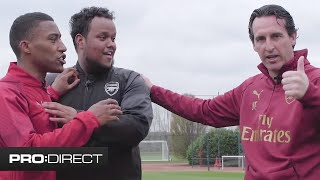 CHUNKZ & YUNG FILLY ft. UNAI EMERY | ARSENAL PRO CONTRACT CHALLENGE