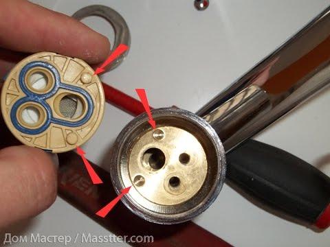 Ремонт однорычажного смесителя / Single lever mixer repair
