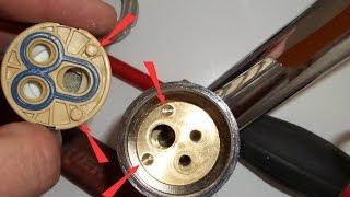 Ремонт однорычажного смесителя(Как произвести ремонт однорычажного (флажкового) смесителя. Монтаж отопления, теплого пола, водопровода..., 2014-10-13T08:58:33.000Z)