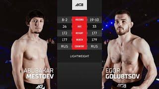 ACA 124: Абубакар Местоев vs. Егор Голубцов | Abubakar Mestoev vs. Egor Golubtsov