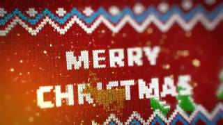 knitted Sweater Christmas Logo Reveal - After Effects Template