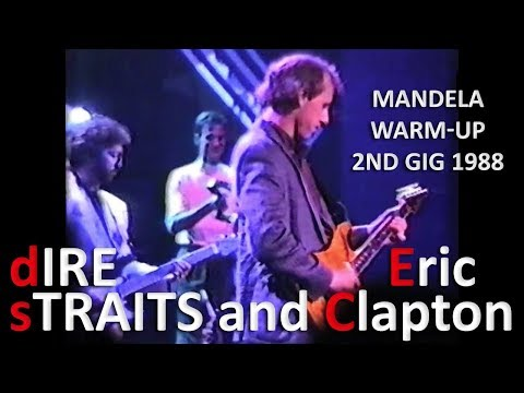 [60 fps] Dire Straits and Eric Clapton — 1988 — Mandela warm-up 2nd gig