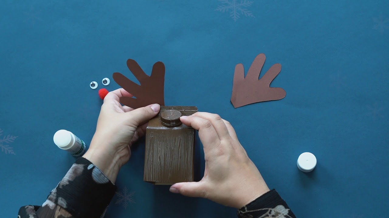 Lav dit eget rensdyr - juleklip af Arla® ØKO mælkekartoner