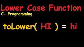 Het Maken Van De Onderste Case-Functie In C