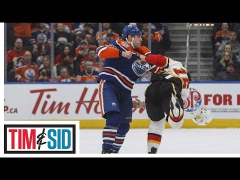 Breaking Down Zach Hyman And Milan Lucic's Hits | Tim & Sid