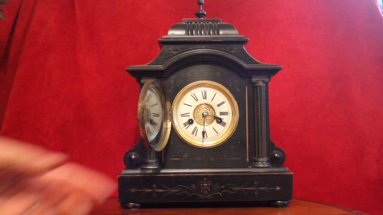 Antique victorian german hac oak 14 day mantel clock with chimes antique victorian german hac oak 14 day mantel clock with chimes amipublicfo Choice Image