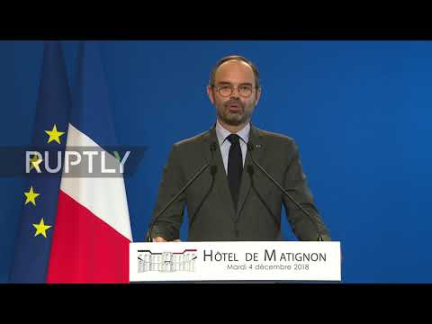 France: PM Philippe announces 6-month freeze on fuel tax hikes