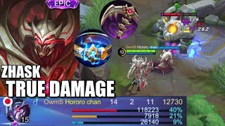 TRUE DAMAGE ZHASK IS ALSO GOOD!