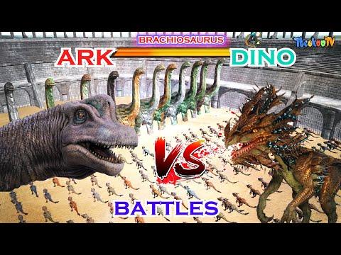 [ark-survival-evolved-]-velonasaur-vs-genesis,ark-dinosaurs-fights-!!---tteokoo-tv