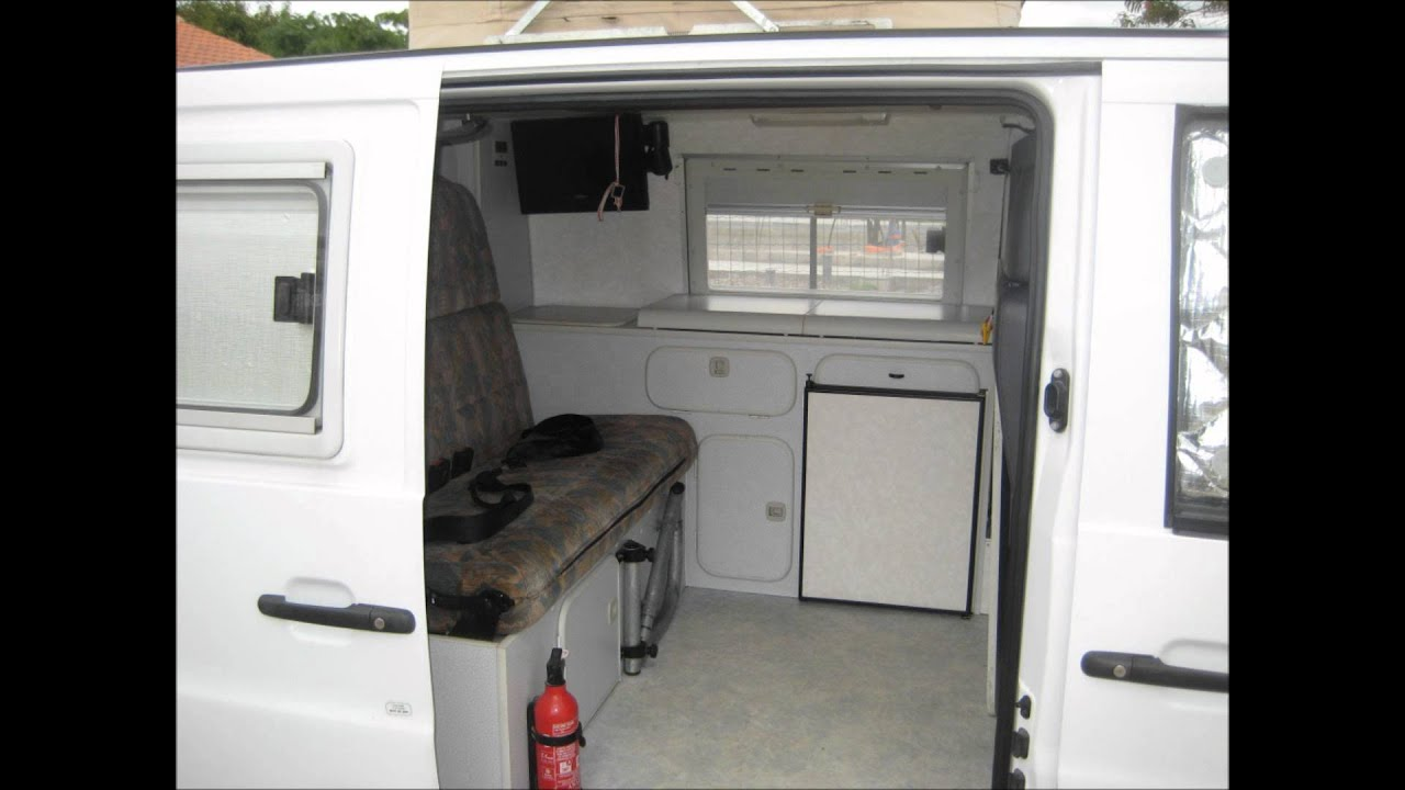 Fourgon am nag mercedes vito camping car fr youtube for Auto interieur kuisen