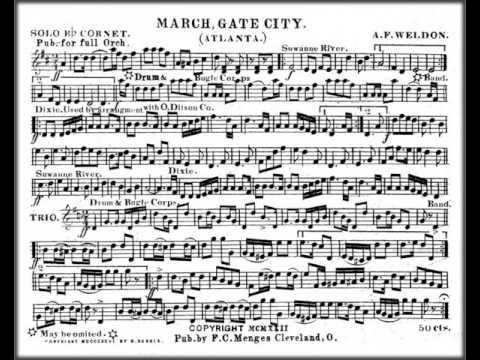Marching Band Sheet Music - Gate City March (Atlanta) by A. F. Weldon PDF