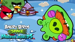 Angry Birds Space: Brass Hogs Level M9-5 Mirror World Walkthrough 3 Star
