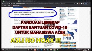 Cara Daftar Bantuan Covid 19 Bagi Mahasiswa Aceh  2020