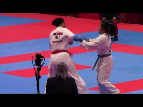 18th Asian Games Women's +68kg Abbasali Hamideh (Iran) vs Akhmedova Aybibi (Uzbekistan)