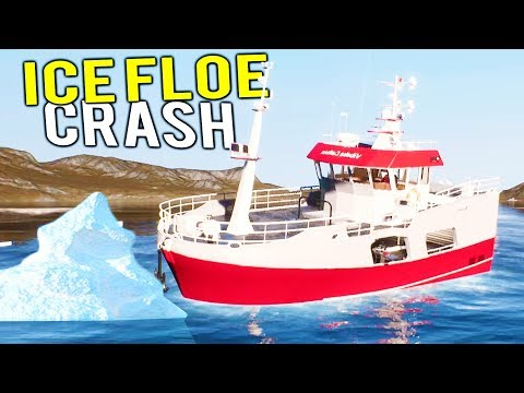 FISHING BOAT WORTH MILLIONS CRASHES INTO ICE FLOE! Deadliest Catch Simulator - Fishing: Barents Sea