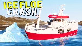 FISHING BOAT WORTH MILLIONS CRASHES INTO ICE FLOE! Deadliest Catch Simulator - Fishing: Barents Sea