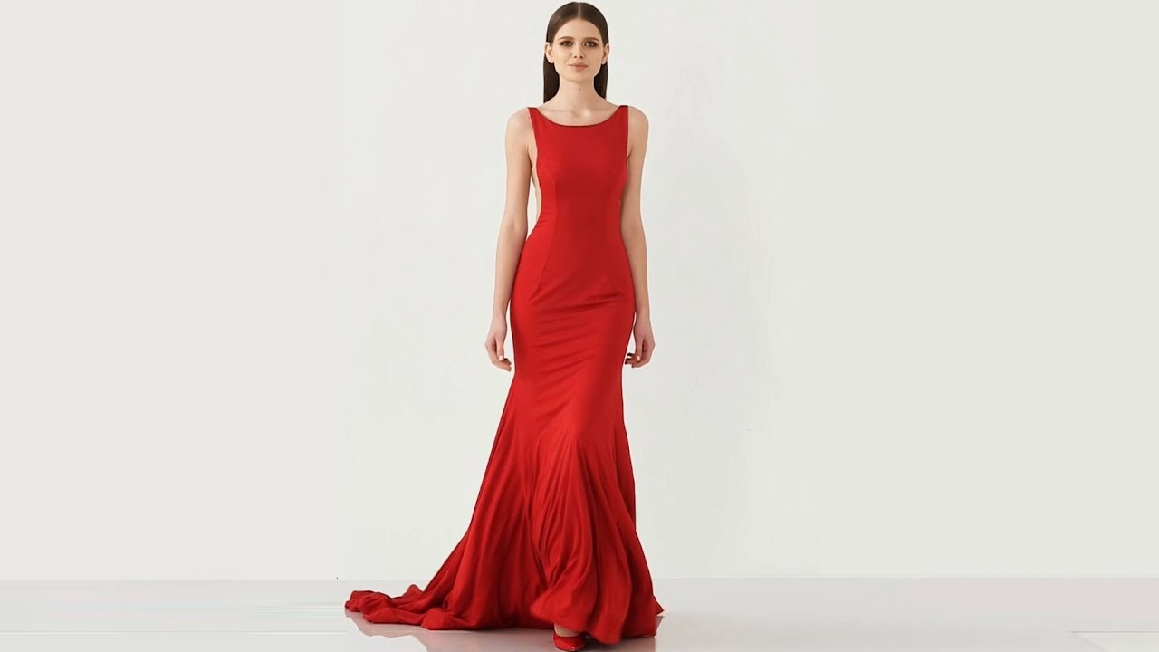 Classic Red Simple Formal/Evening Dress Fashion Show - Hebeos 2017 ...