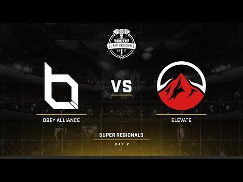 Smite Super Regionals 2017 EU Semifinals Elevate vs Obey Game 1