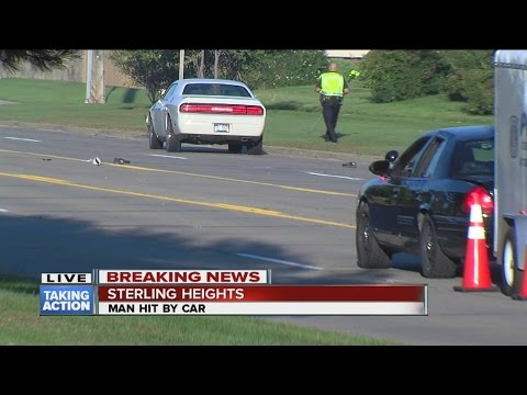 Pedestrian hit by vehicle on 17 Mile Road in Sterling Heights