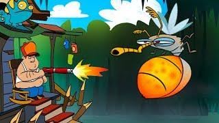 БОЛОТНАЯ АТАКА - мультик игра для детей БИТВА С МОНСТРАМИ в игре АТАКА НА БОЛОТЕ #7