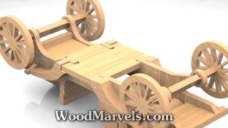 1911 Ford Model T Torpedo Runabout Cnc: 3d Assembly Animation (720hd)