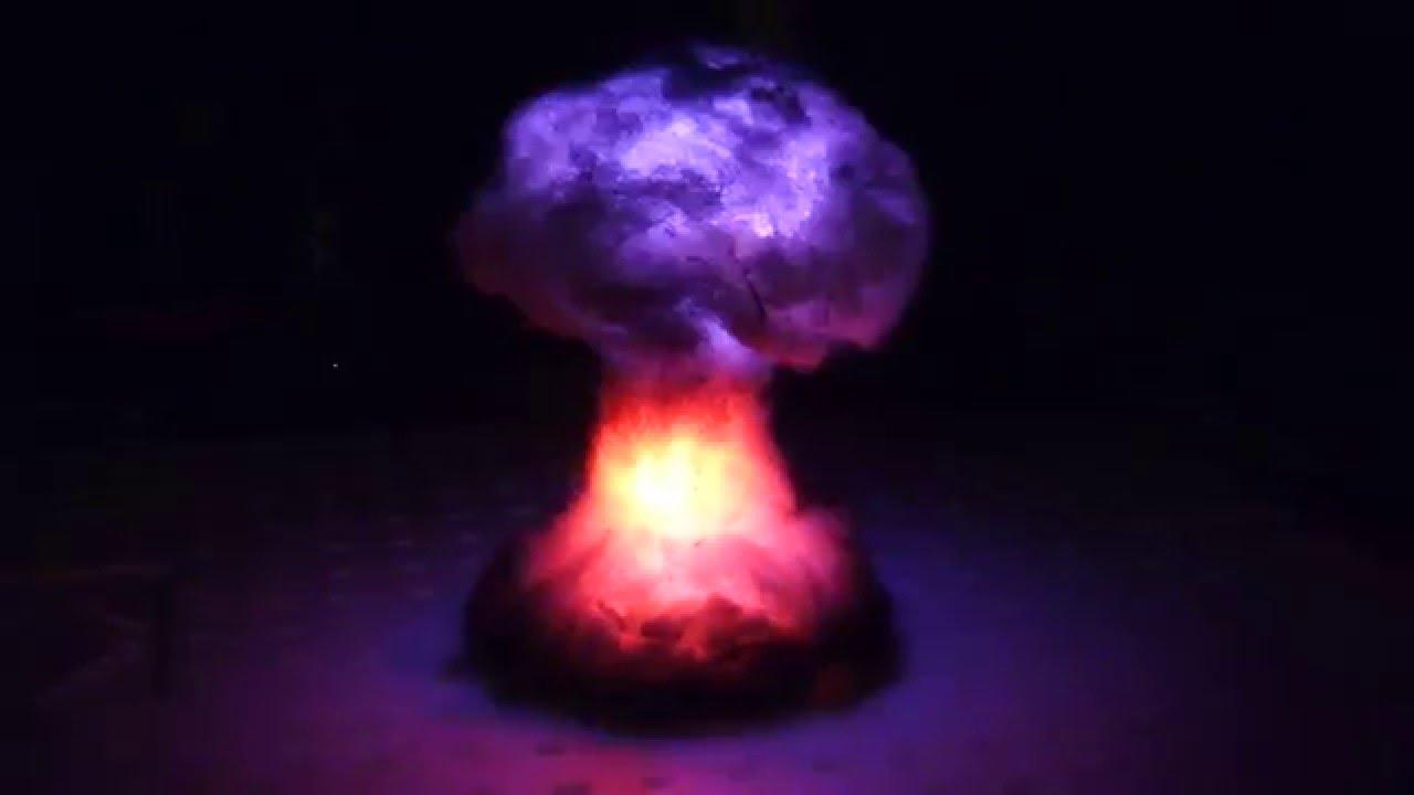 Arduino Mushroom Cloud Explosion Lamp (war Gaming)   YouTube
