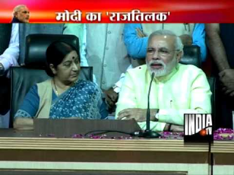 Narendra Modi addresses media after being declared as PM candidate