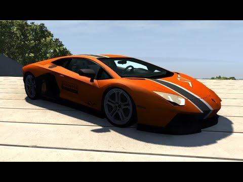 Lamborghini Aventador Crash Test Beamng Drive Mod
