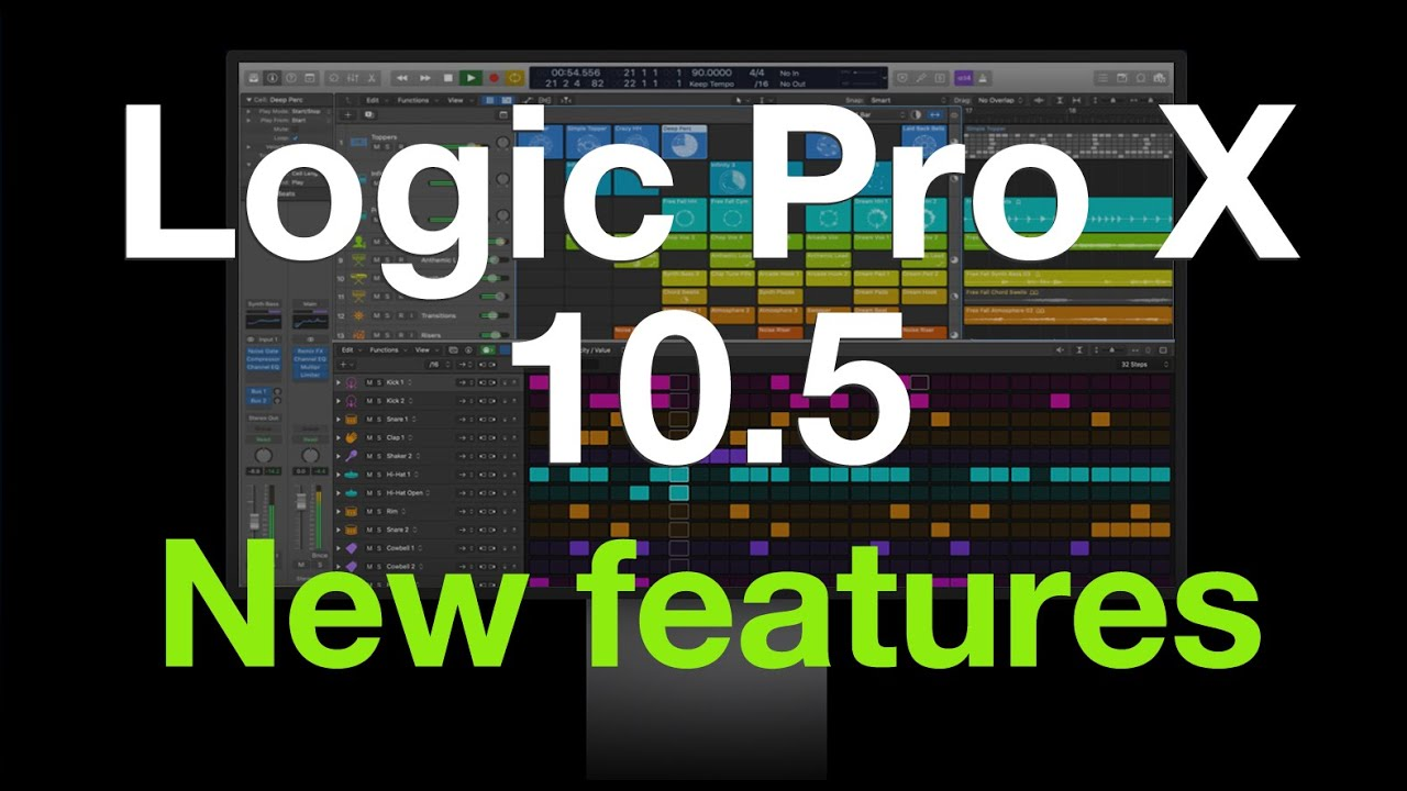 Logic Pro X 10 5 0 More New Features Youtube