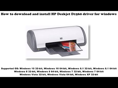 How To Download And Install HP Deskjet D1560 Driver Windows 10, 8 1, 8, 7, Vista, XP