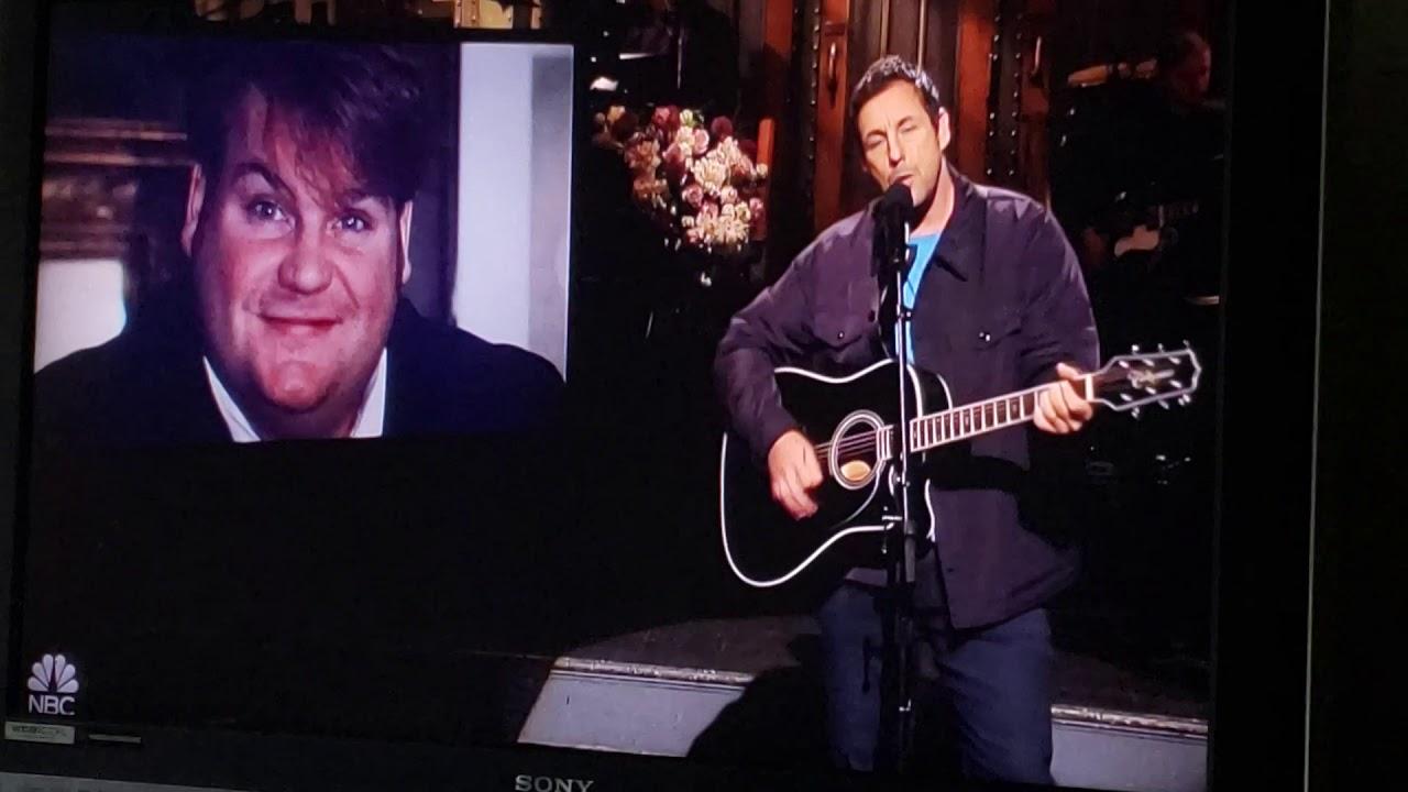 Adam Sandler tribute to Chris Farley 5/4/19 SNL