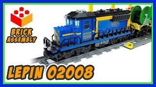 Lepin - 02008 - Cargo Train - Lego Compatible Train Set - Speed Build