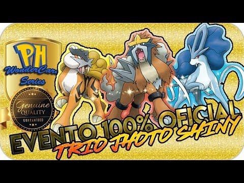 ¡EVENTO TRIO DE JHOTO SHINY 100% OFICIAL! / WONDER CARD SERIES [Pokémon Hispania]