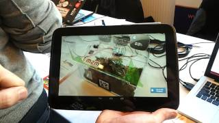 Benjamin Cabe's Iot Demonstration, Eclipse Stand, Fosdem'14
