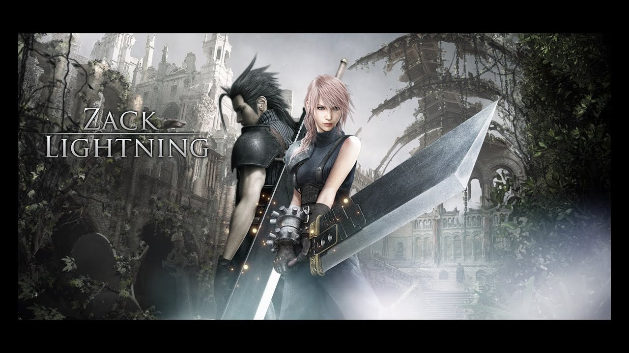 final fantasy zack & lightning wallpaper speedart - youtube