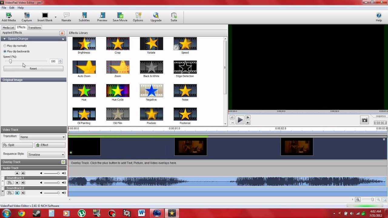 How to reverse video using videopad video editor youtube how to reverse video using videopad video editor ccuart Gallery